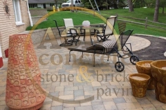 Brick paver patio (1) w