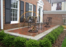 past work - brick paving - patio