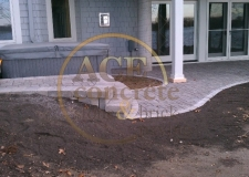 past work - brick paving - steps