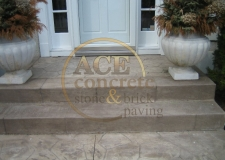 Prior Work - stamped concrete - steps