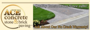 ace concrete, stone and brick paving